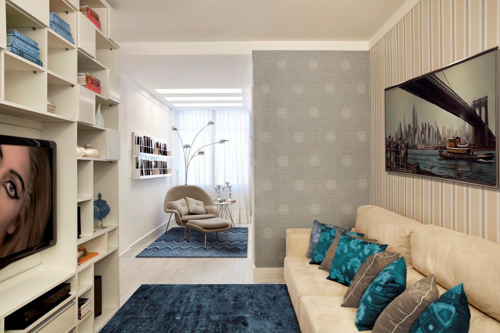 como organizar uma pequena sala de estar leve e leia